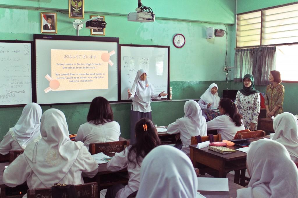 インドネシアの教室の様子