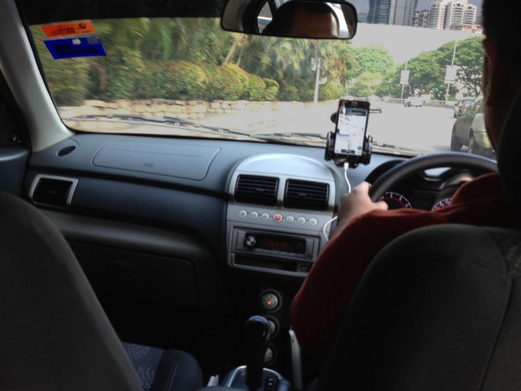 Uber 車内