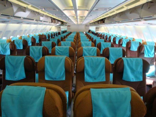 ガルーダ・インドネシア航空 機内