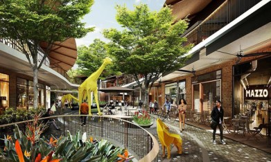 スキー場も完備!バンコク郊外に2つの巨大商業施設が完成 中庭