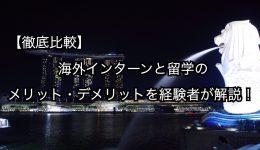【徹底比較】海外インターンと留学のメリット・デメリットを経験者が解説!