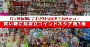 【保存版】バリ渡航前にこれだけは覚えておきたい!買い物に超役立つインドネシア語3選